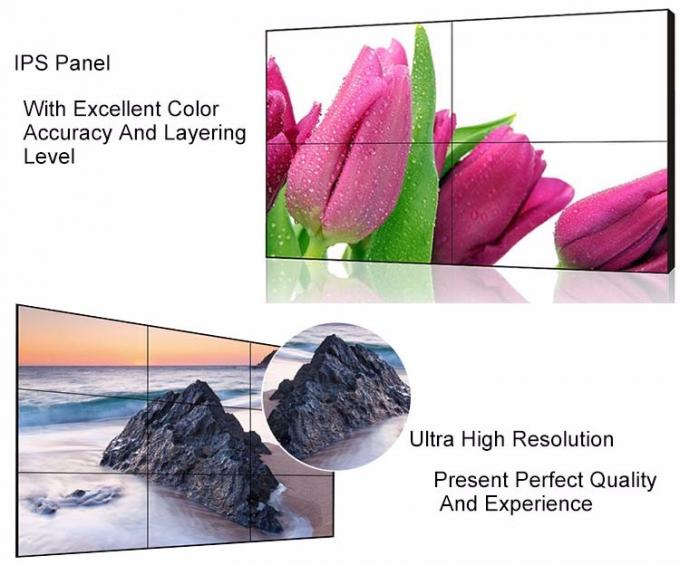 3.5mm Narrow Bezel LCD Video Wall 4x2 LCD Video Wall Display Screen