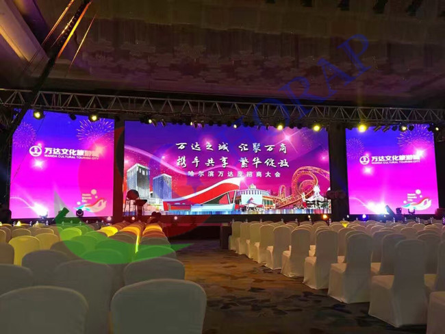Sunlight Readable Pitch 4.8mm Large Led Display Panels , Full Color Outdoor Led Display Board