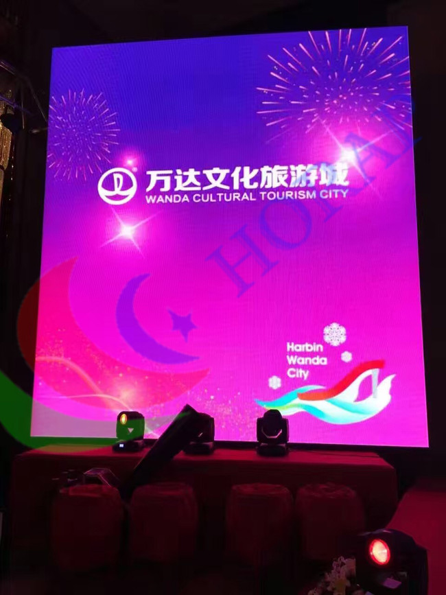Hd Video Play Big Led Screen , Stage Background Indoor Led Display 192x192mm Module