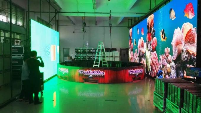 Indoor Full Color 360 Flexible Led Video Screen  For Shopping Malls , Soft Led Mesh Screen