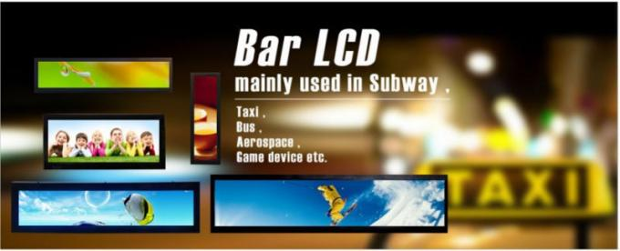 Stretched Lcd Display Screen 12 Inch , Custom Lcd Display Ultra Wide Screen For Bar