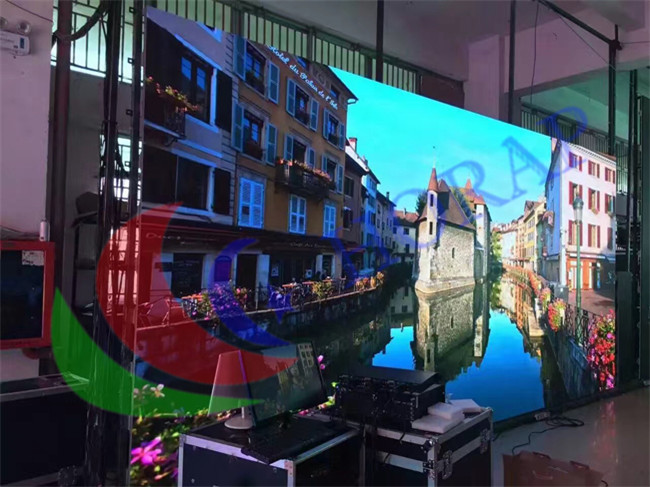 P2 98 Indoor Full Color LED Screen Hire SMD2121 RGB Black