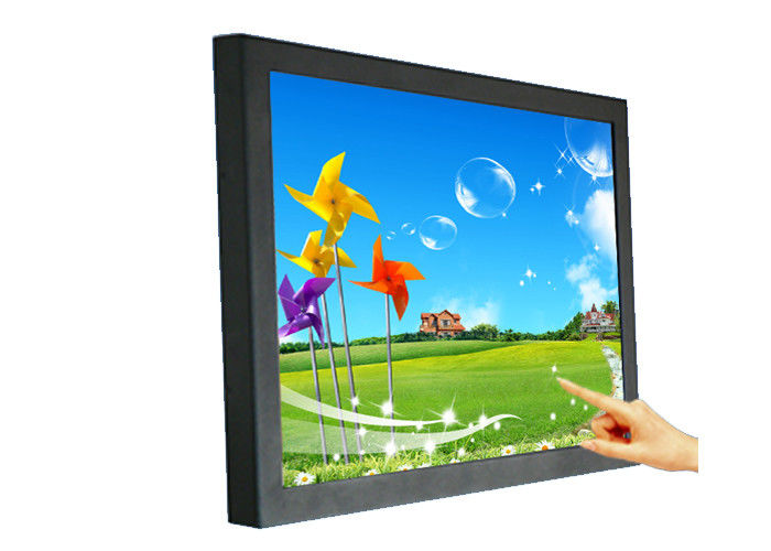 Waterproof Advertising Industrial LCD Monitor 10.4 Inch With Resistive Touchscreen