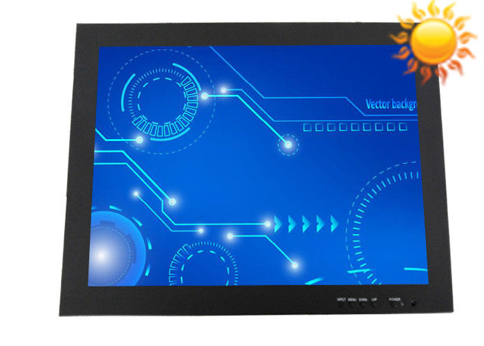 Wall - Mounted 12.1 Inch Sunlight Viewable Monitor , 1000nits High Brightness Screen
