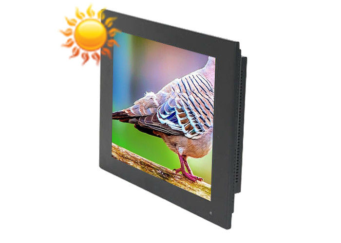 Wall Mount 19 Inch Sunlight Readable Display , High Brightness Screen 1280 * 1024