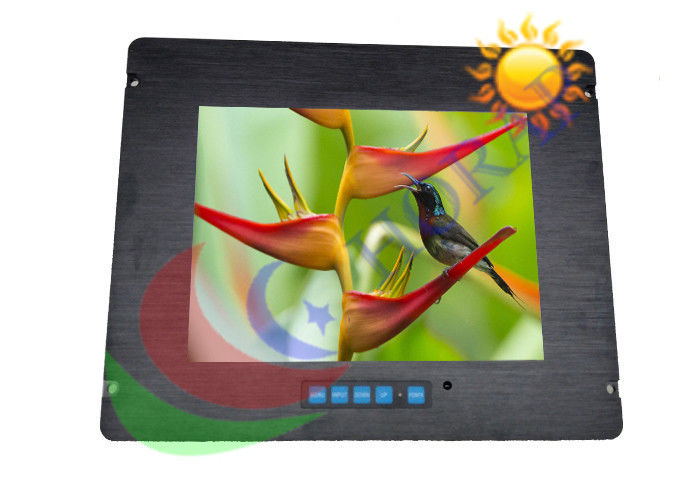 17 inch IP65 Marine LCD Monitor 1000 nits Brightness For Industrial Military