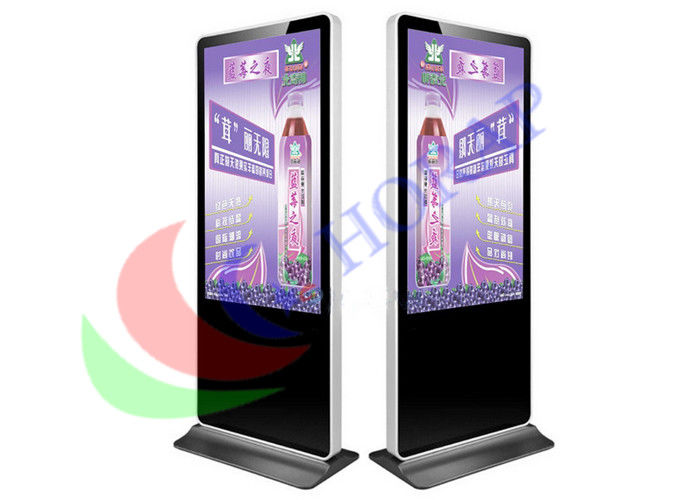 Floor Standing Hotel  LCD Advertising Player 4K 55 Inch Android  /  Windows