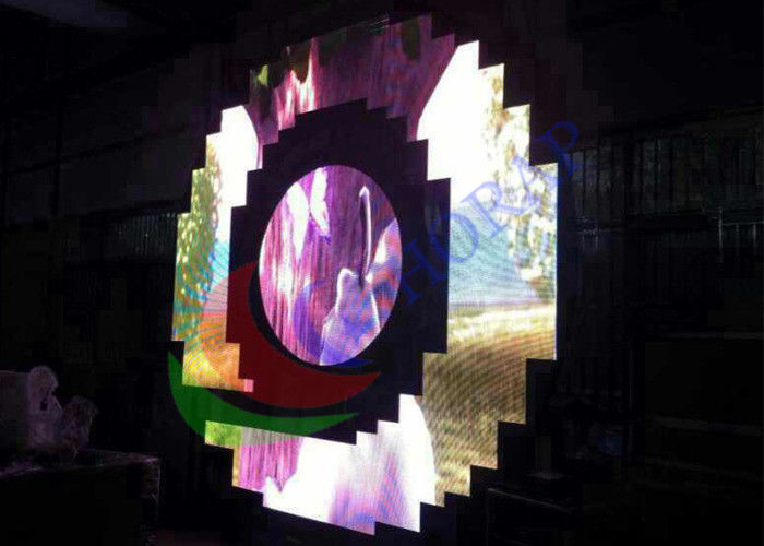 4mm Pixel Pitch Indoor Full Color Custom Flexible Led Display , High