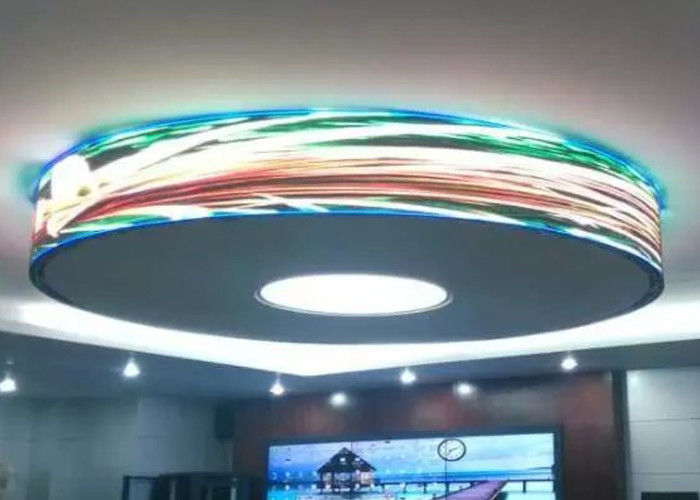 Indoor Full Color 360 Flexible Led Video Screen For Shopping Malls