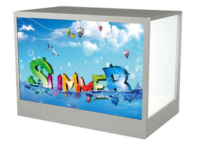 "21.5"" Transparent Custom LCD Monitor DVI HDMI For Shopping Malls 1920 * 1080 Resolution"