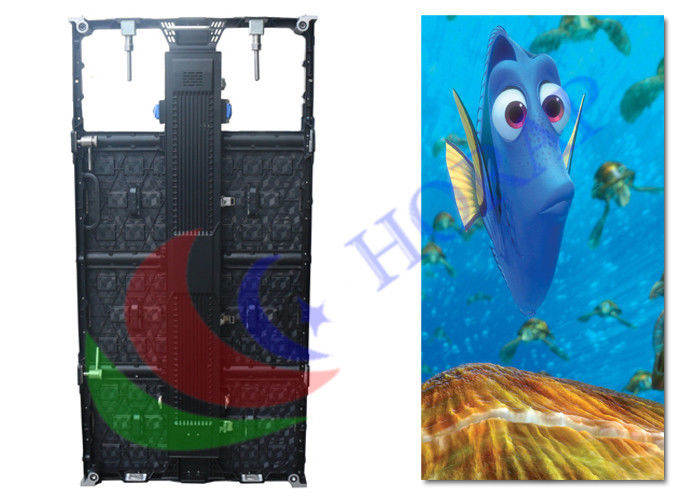 Pitch 5.95mm Indoor Rental LED Display For Stage Backdrop / led video wall hire