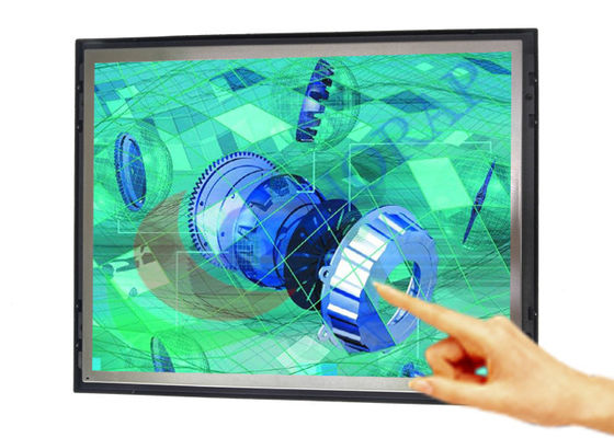 Open Frame Industrial LCD Monitor Wall - Mounted  For Shopping Malls 1280x1024 Resolution