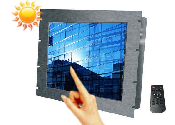 High Bright 12.1 Inch Marine Lcd Display , Metal Shell Industrial Lcd Monitor