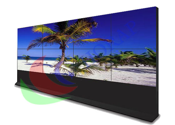 China Touch Screen Video Wall With Cupboard , Big Advertising Screen Slim Bezel Monitor factory