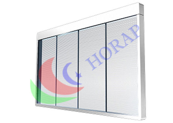 Transparent Glass LED Curtain Screen Super Slim Light Weight For Shop Window