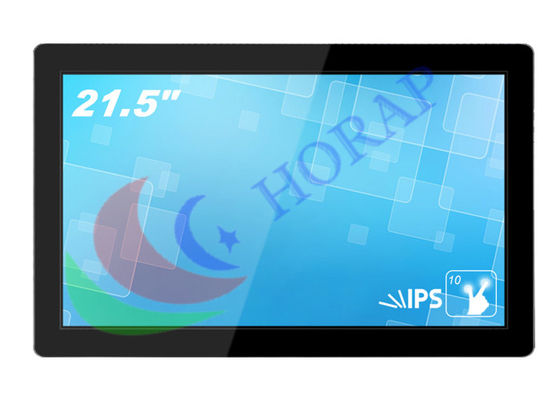 FHD 21.5 Inch Touch Screen Indoor Digital Signage , Video Digital Advertising Displays