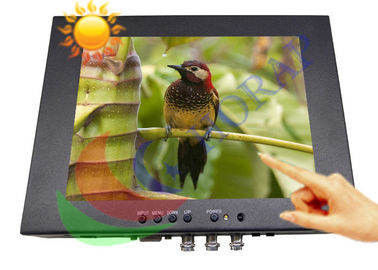 Touch Screen 8.4 Inch High Brightness LCD Monitor 1000 Nits With Rugged Housing